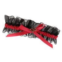 Charming Bridal Lace Bow Ribbon Leg Garter Thigh Ring Accessories Keepsake