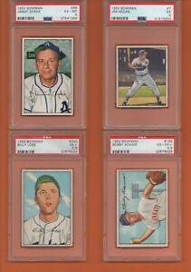 Billy Loes #240 1952 Bowman Baseball Card - Graded PSA 5.5 - ONE CARD