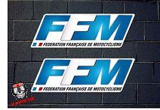 PEGATINA STICKER  ADESIVI  DECAL ADESIVO FFM FEDERATION FRANÇAISE MOTOCYCLISME