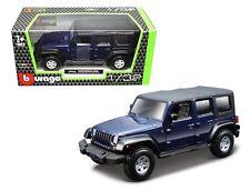 Bburago 1:32 W/B Jeep Wrangler Unlimited Rubicon Diecast Car Model Blue 43012