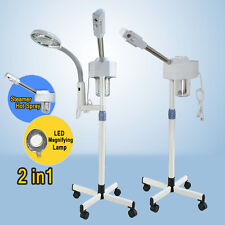 2In1 Facial Steamer 5x Clamp Magnifying Lamp Hot Ozone Machine Spa Salon Beauty