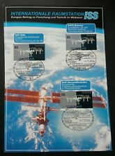 Germany Space Satellite 2004 Astronomy Earth (stamp on info sheet) *concordance