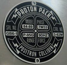 CUSTOM GHOSTBUSTERS PROTON PACK SPECIFICATIONS DATA PLATE SERIAL POSITRON