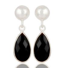 Black Onyx Gemstone Silver Plated Drops Dangle Earrings Christmas Gift Jewelry