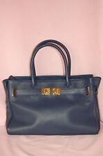 Onna Ehrlich Maya Navy Blue NEW $650 Leather Handbag