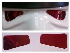 Reflective Soft Film Lenses in Red - made for a Stormtrooper Helmet