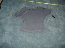 A.N.A DEMOLITION TOP BUTTON TYPE STYLE EMBELLISHMENTS GRAY SIZE XL NWT