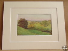 BATHFORD SOMERSET RARE ANTIQUE 1912 DOUBLE MOUNTED PRINT 10X8 OVERALL W TYNDALE
