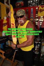 "*WWF HULK HOGAN SIGNED ""HULKSTER"" RED & YELLOW AUTHENTIC BELT!*"