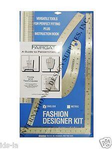 Fairgate 15-102 Fashion Designer's kit Essential Pattern Making Rulers & curves