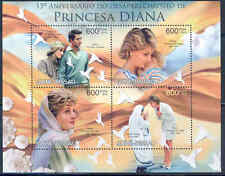 GUINEA BISSAU 2012 PRINCESS DIANA 15TH MEMORIAL ANNIVERSARY SHEET OF FOUR STAMPS
