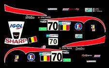 #70 Igol Corvette 2007 24hrs Le Mans 1/24th - 1/25th Scale Decals