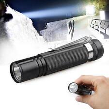 1x Durable  Q5 LED Lamp Flashlight Torch 14500 AA Aluminum Outdoor Black MT