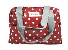 Ladies Oilcloth Polka Dots Cross Body Shoulder Bag Messenger Satchel School Bag