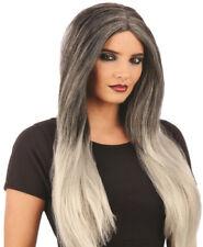 Pelucas y postizos color principal gris sintético para disfraces y ropa de época