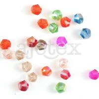 Wholesale 100Pcs Helix Crystal 6mm Glass Loose Spacer Beads DIY Fit Jewelry