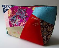 Shanghai Tang Clutch/Purse Silk Patchwork & Black Velvet