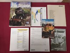 Microsoft TRAIN SIMULATOR PC Cd Rom base game - Original MSTS BIG BOX FREE UKP&P