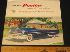 1953 Pontiac Station Wagons Folder Sales Brochure