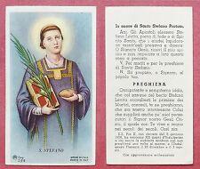 Santino Holy Card: Santo Stefano Protomartire - Ed. AR Dep. Z/216