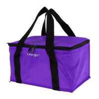 Insulated Lunch Box Outdoor Camping Cooler Tote Container Bag Bucket Purple