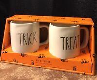 """Rae Dunn Halloween """"Trick"""" & """"Treat"""" Mug Set Pottery Artisan Collection"""