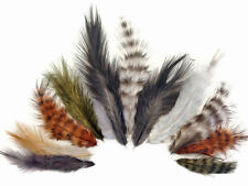 1 Pack - Natural Mix Grizzly Rooster Chickabou Fluff Wholesale Feathers 0.05 Oz.
