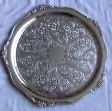 """BELLISSIMO vintage placcato argento round tray inseguito da VINERS SHEFFIELD 14"""""""