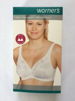 Warners Firm Support Wire Free Bra Full Figure Molded Cup Stretch 1244 38C C38