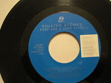 THE ROLLING STONES - ROCK AND A HARD PLACE/COOK COOK BLUES - 45  CDN oop L@@K