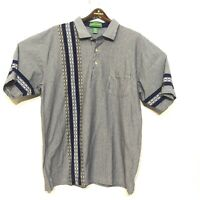 Vintage Penguin Munsingwear Grand Slam Mens Size XL Shirt Polo Blue Striped EUC