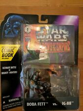 Star Wars Shadows Of The Empire Boba Fett Vs IG-88 With Comic Book MIB