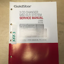 Goldstar Service Manual for the FFH-292A /S FE-393E CD Music System ~ Repair
