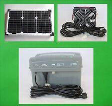 20 W Solar Lüftungssystem Lüfter Ventilator Akku Batterie Gewächshaus Gebläse