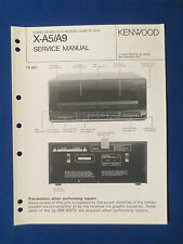 KENWOOD X-A5 X-A9 CASSETTE SERVICE MANUAL ORIGINAL FACTORY ISSUE GOOD CONDITION