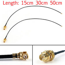 2x 1.37 U.FL/ IPX Mini PCI to RP-SMA Pigtail Antenna WiFi Cable 12In 30cm UE