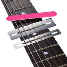 Guitar fret Repairing Tool Set Stainless Steel Protector shims&Sanding Polish HF
