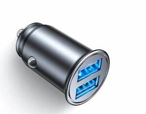 24V Car Cigarette Lighter Charger Adapter Double USB Socket Splitter 12V LED