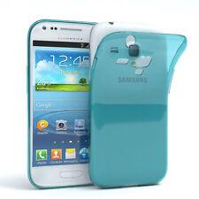 Ultra Slim Cover für Galaxy S3 Mini Case Silikon Hülle Transparent Hellblau