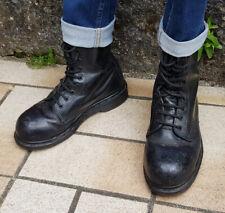 Docs Dr MARTENS taille 37 UK4 cuir noir safety montantes 10 trous (MIE)