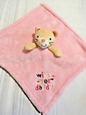 "Baby Gear ""Wild Over Daddy"" Pink Kitty Cat Security Blanket Lovey"
