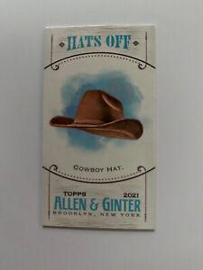 2021 Allen & Ginter Mini Hats Off insert Cowboy Hat #MHO-6