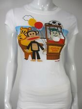 PAUL FRANK Industries Short Sleeve 100% Cotton T SHIRT SIZE S SMALL White