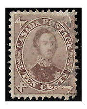 CANADA stamps 1859-64 Prince Albert 10 cents brown YT.15b used -F790