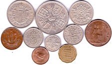 More details for birthday coin year sets 1953 - 1967 elizabeth ii pre decimal coins gift free p&p
