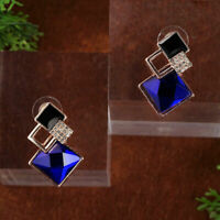 Charme Diamant Ohrringe Frauen Kristall Geometrische Creolen Geschenk T7Z4