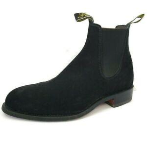 RM Williams Mens Size 8 UK 9 US  Black Suede Comfort Craftsman Chelsea Boots