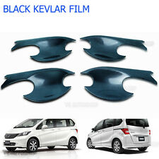 Set Black Kevlar 4Dr Bowl Handle Housing Insert Cover For Honda Freed 2010-2015