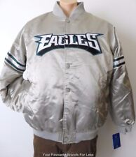 PHILADELPHIA EAGLES   Silver Starter Jacket  Size XL