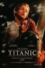 TITANIC - R2012- Orig 27x40 d/s Movie Poster B - LEONARDO DICAPRIO, KATE WINSLET